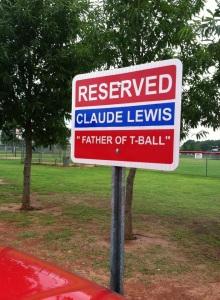 Claude Lewis must've really loved T-ball to name his child after it. I wonder if T-Ball resented Claude for naming him that.