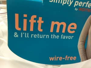 Lift Me and I'll Return the Favor